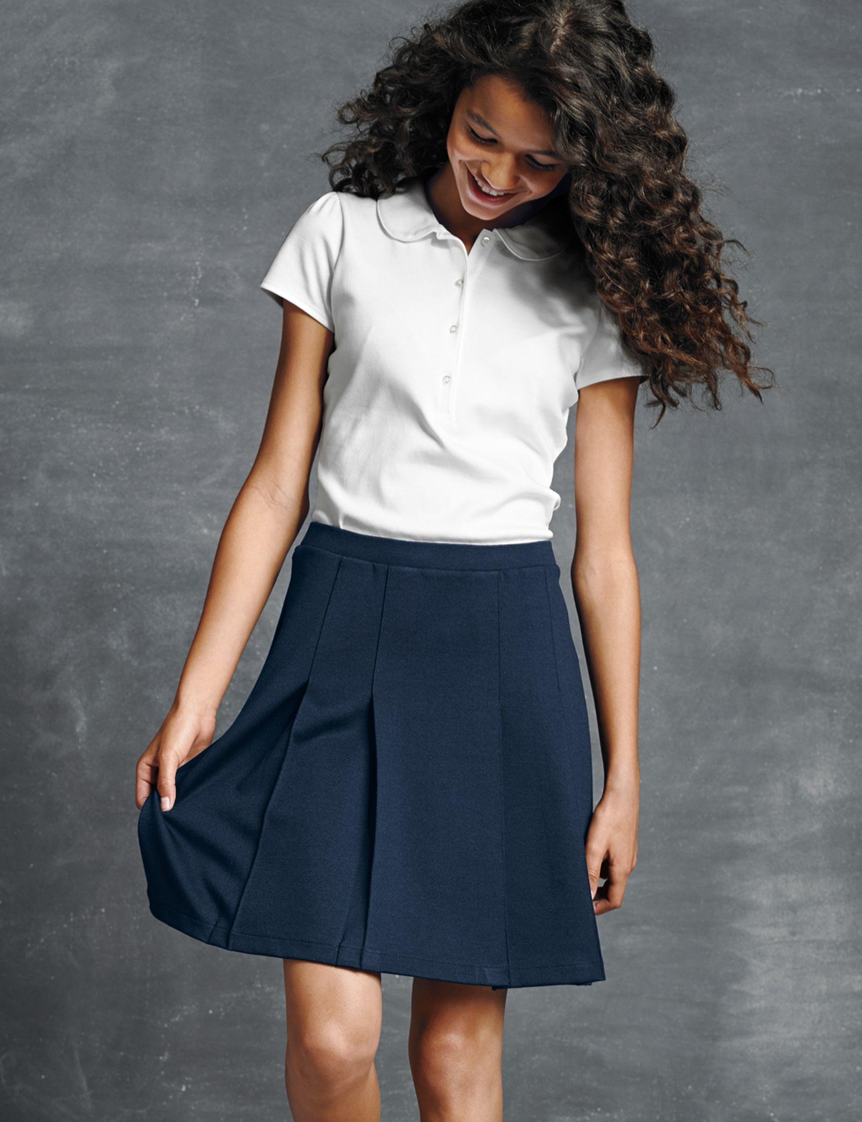 Lands End School Uniform Little Girls Uniform Solid Jumper