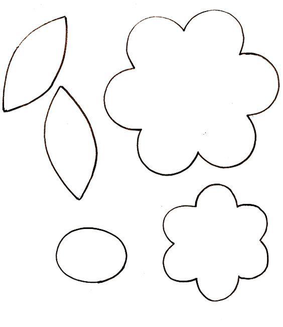18 Flores de papel moldes pequenas
