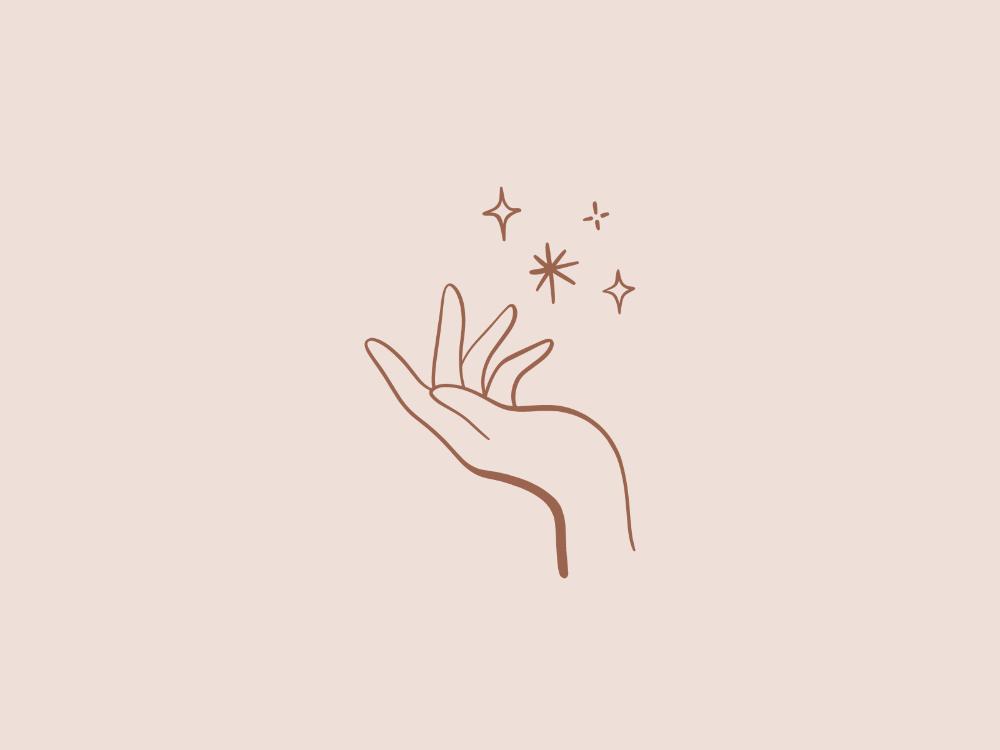 Vector Magical Hand Logo Hand Logo Magical Hand Illustration
