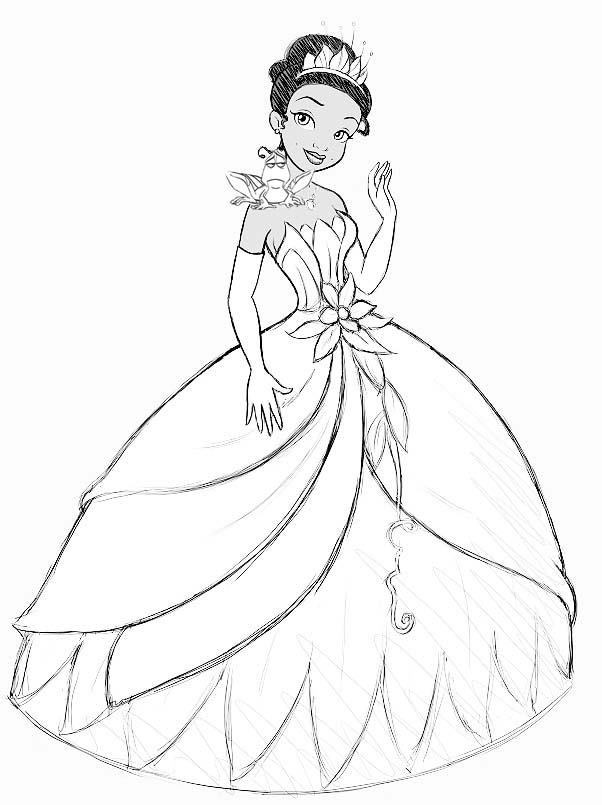 How To Add The Princess And The Frog Step By Step Drawing Lesson For Girls How To Draw Step By Step Drawing Tutorials Disney Princess Coloring Pages Disney Princess Colors