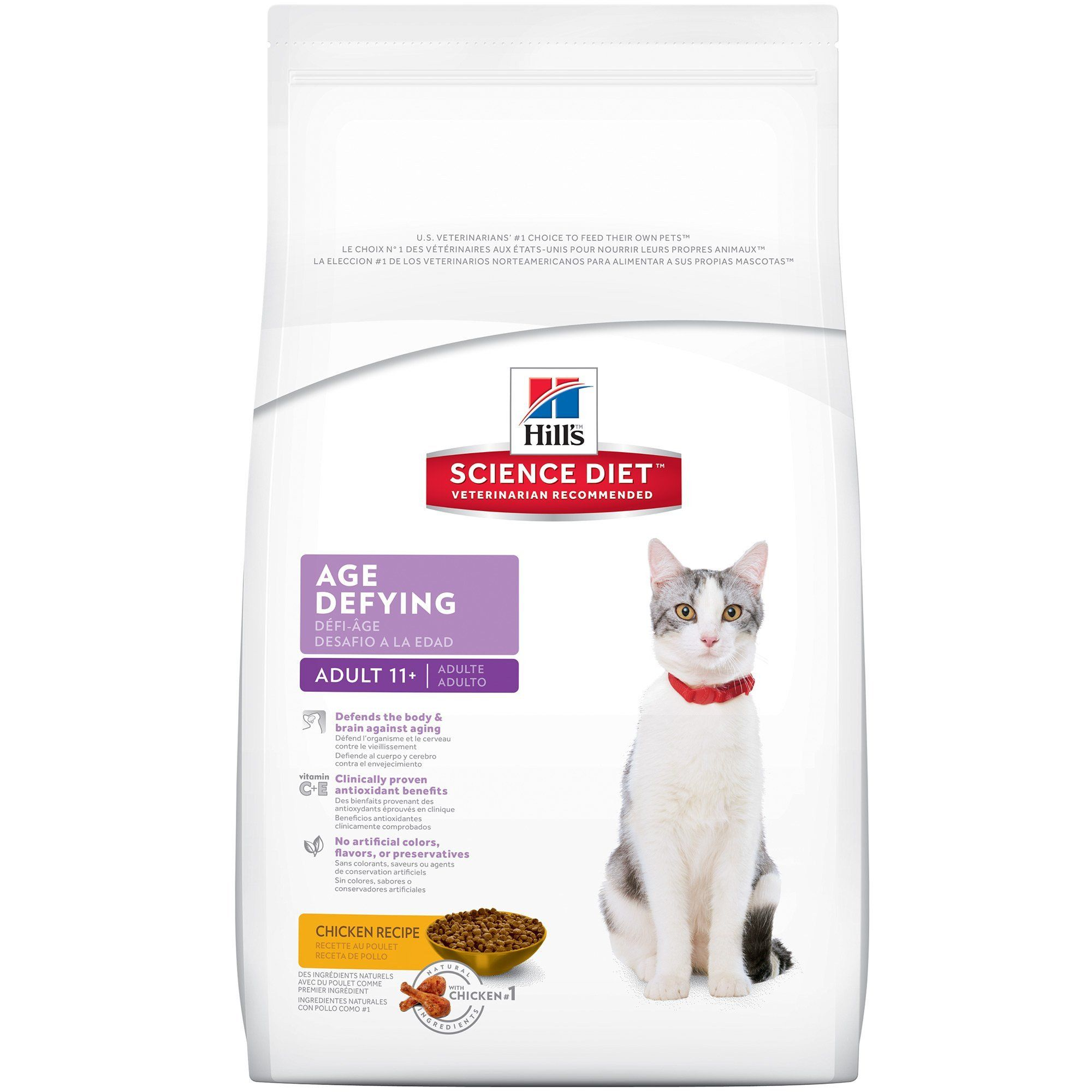 Hill's Science Diet Age Defying Adult 11+ Dry Cat Food Bag