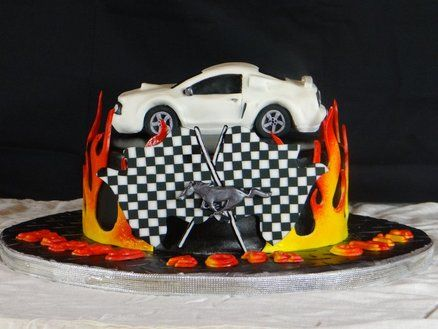 Mustang 40th Birthday Cake by BellaCakes Confections Recipes to