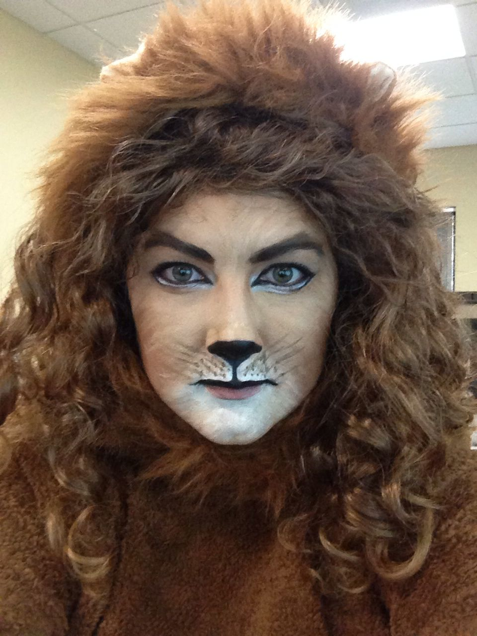 Cowardly Lion Face Paint Lion Makeup Lion Face Paint Face Painting Halloween