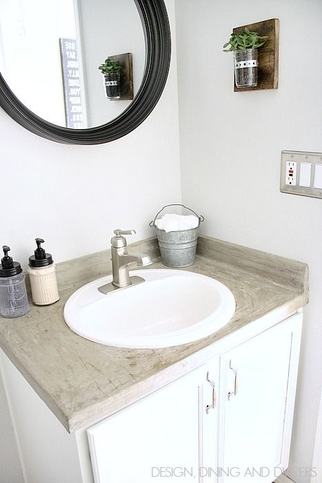 Modern Farmhouse Half Bath Makeover Go See The Before So Refreshing Via