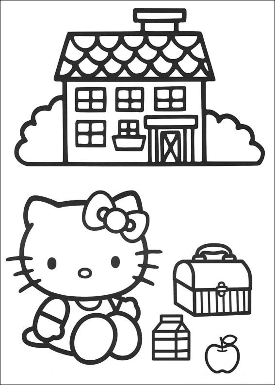 Hello Kitty coloring page | Coloring Pages | Pinterest