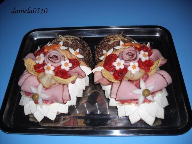 slaná torta - papučky , ozdoby na slané torty, fotopostupy | Tortyodmamy.sk
