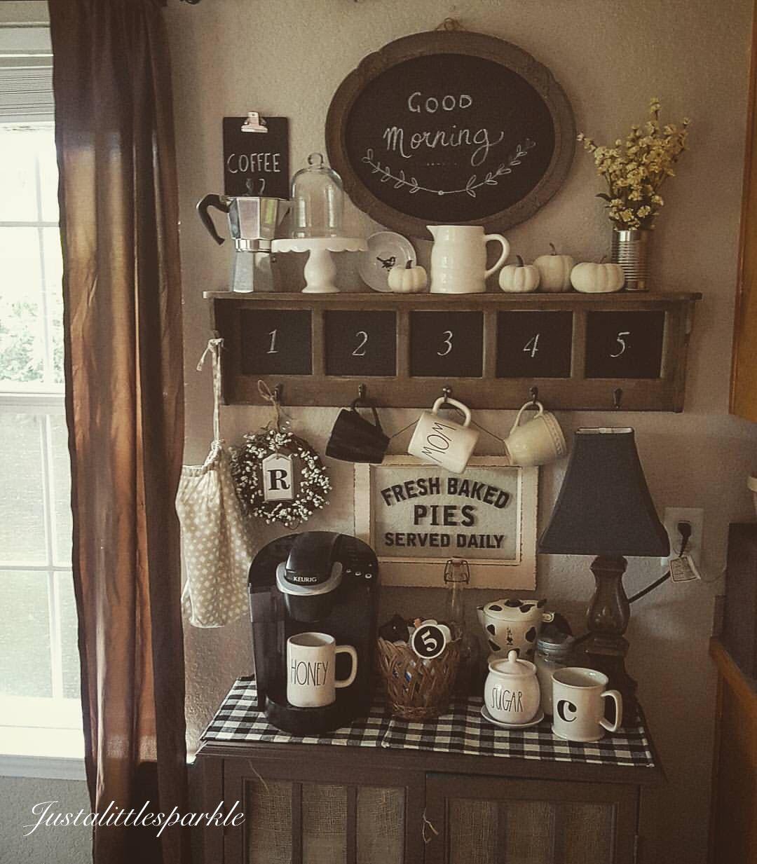 Coffee bar, coffee station, rustic coffee bar... Coffee