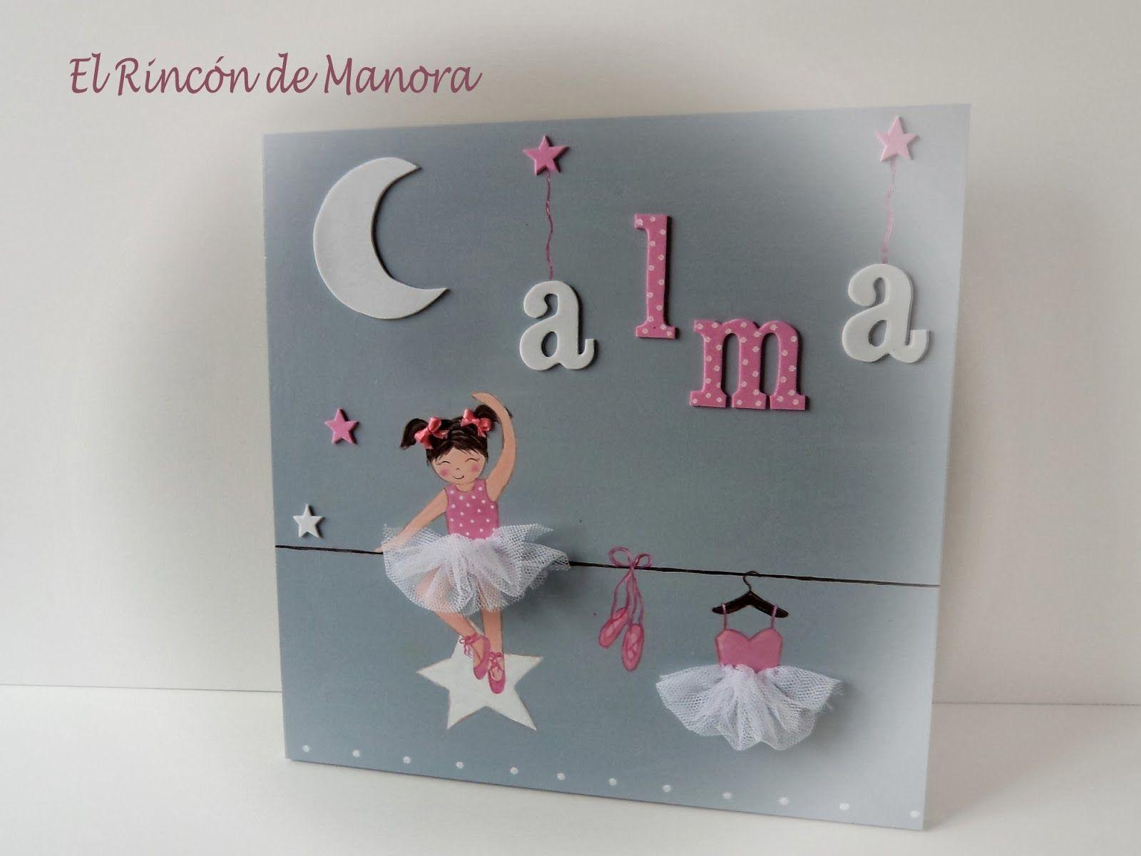 Cuadro bailarina rosa cuadros y espejos infantiles by for Espejos infantiles