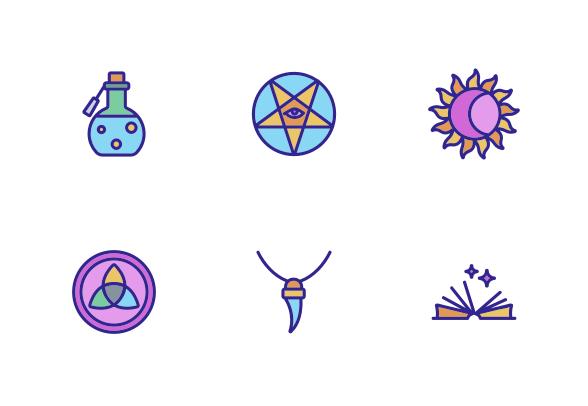 Mystic Symbol Tool Icons By Vector Win Mystic Symbols Symbols Fashion Icons Illustration
