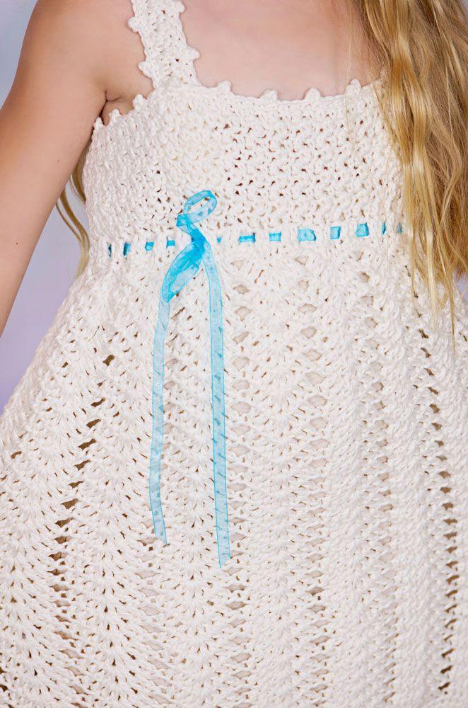 Free Crochet Toddler Sundress Pattern | Wishes - Sundress and Sunhat ...