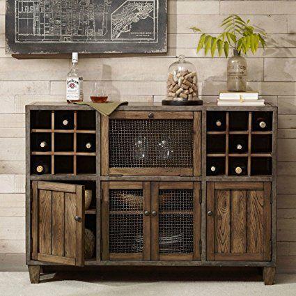 industrial rustic vintage liquor storage wine rack cart metal frame rh pinterest com