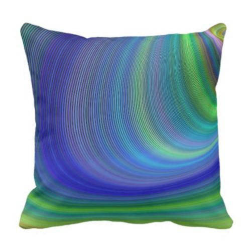 Cyclone Pillow 32 60 Cyclone Storm Vortex Whirlwind Sky Blue Green Abstract Sky Throw Pillows Unique Throw Pillows Decorative Throw Pillows