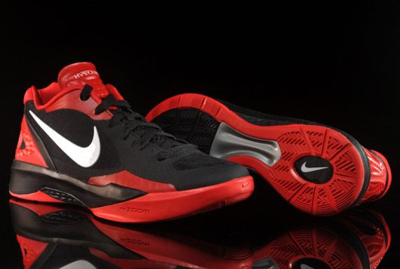 save off 7f9cd 5acec Nike Zoom Hyperdunk 2011 Low - Black - White - Sport Red ...