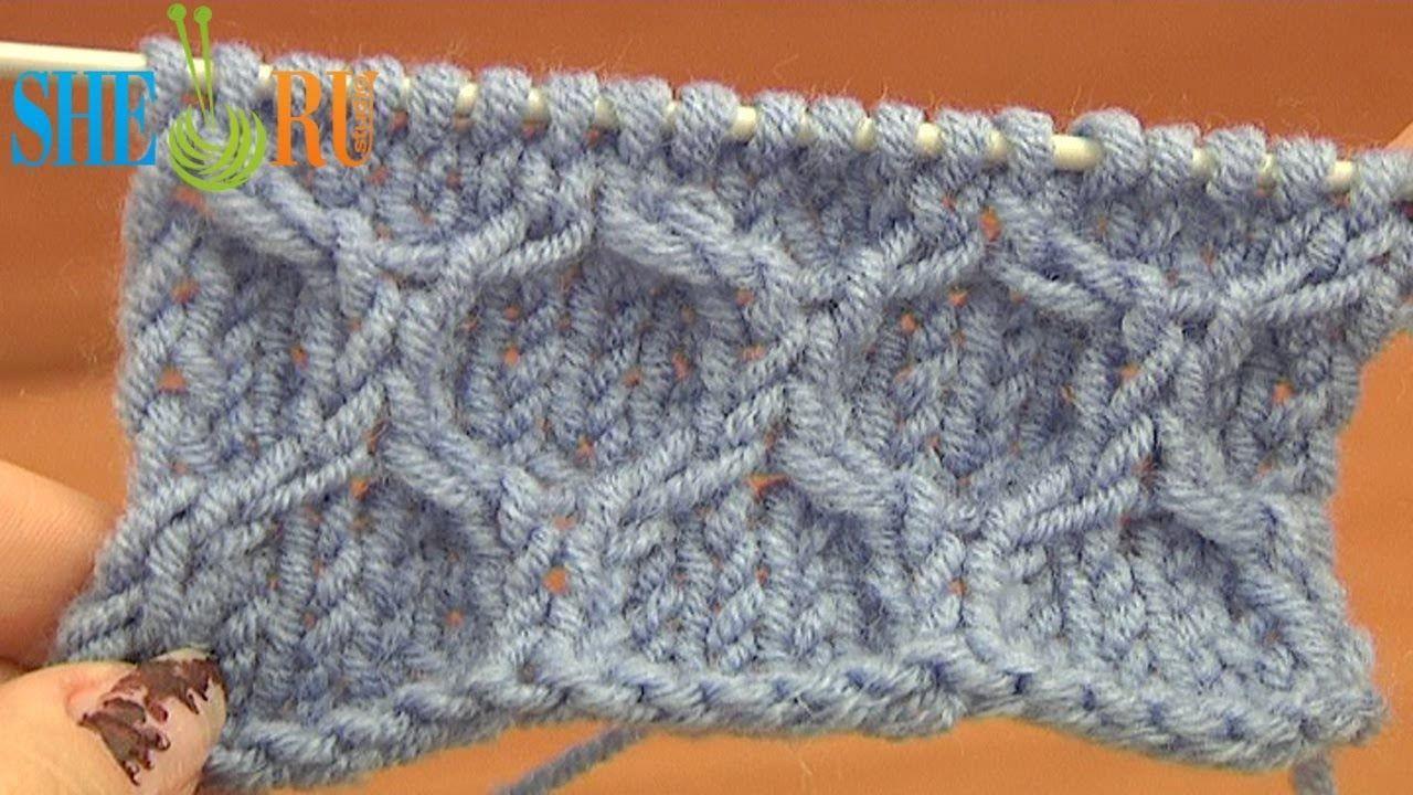 Learning to knit beautiful things. Pattern honeycomb (knitting needles)