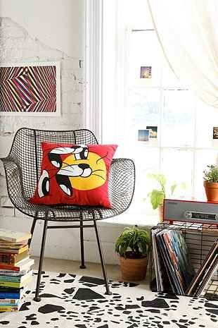 Cartoon Collage Pillow - Urban Outfitters