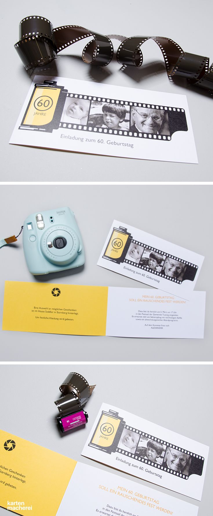 Einladung zum geburtstag analog einladungskarten einladung geburtstag papeterie kartenmacherei