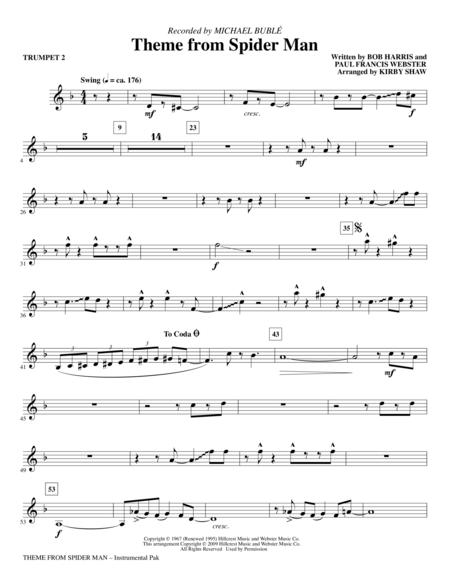 Theme From Spider Man Trumpet 2 Movie Music In 2019 Trumpet