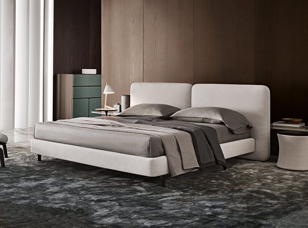 Best Double Bed Contemporary Upholstered With Headboard 640 x 480