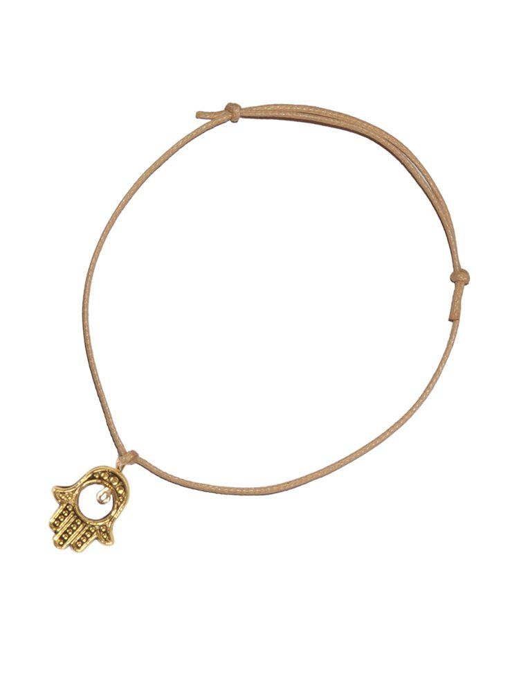 8b376043918554 Kool Jewels Natural Rope Bracelet with Hamsa - pretaportobello Hamsa