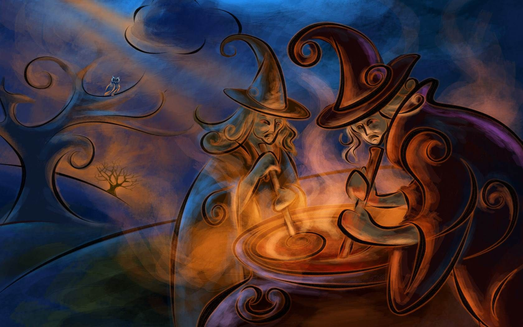 Background With Wiccan Goddess Symbol Stock Illustration Image 1209
