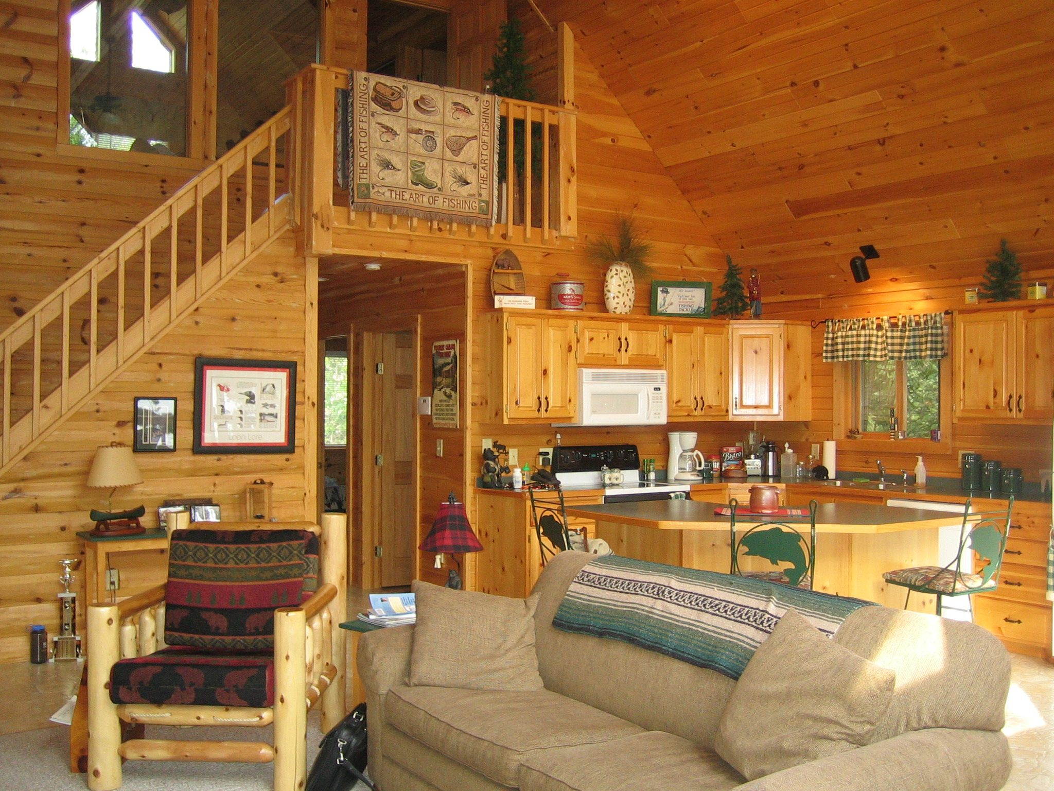 Log Cabin Kitchen Decor Interior Cabins Home Decor Cabin Loft Loft Interior Design Ideas