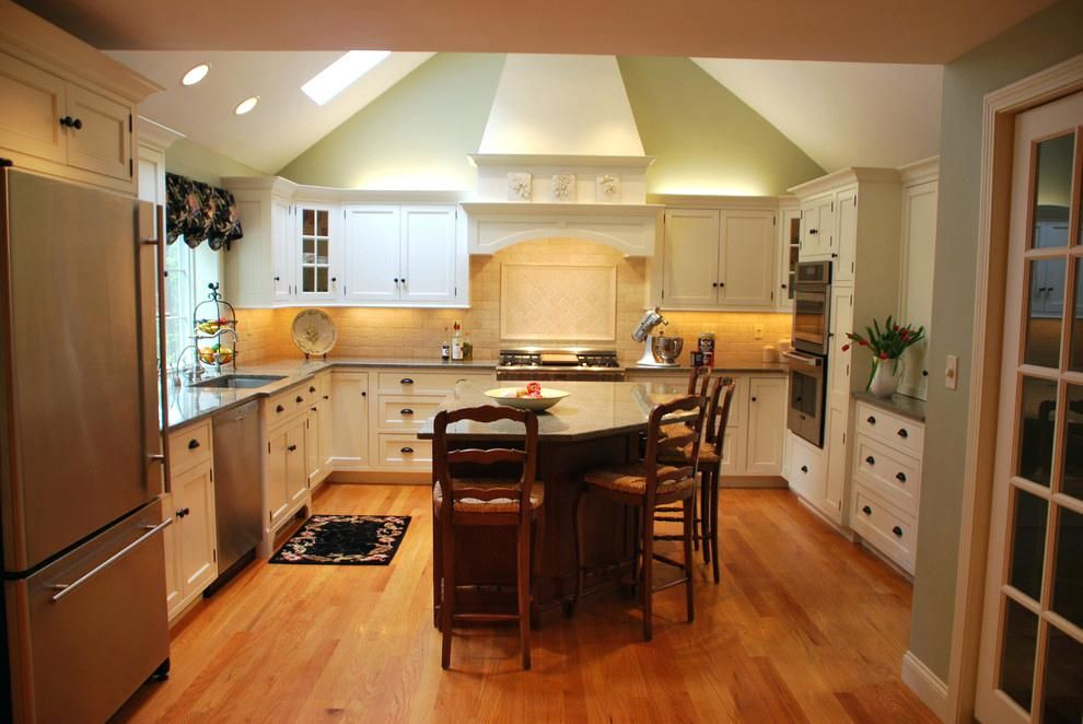 Image result for farmhouse cathedral ceiling range hood ...