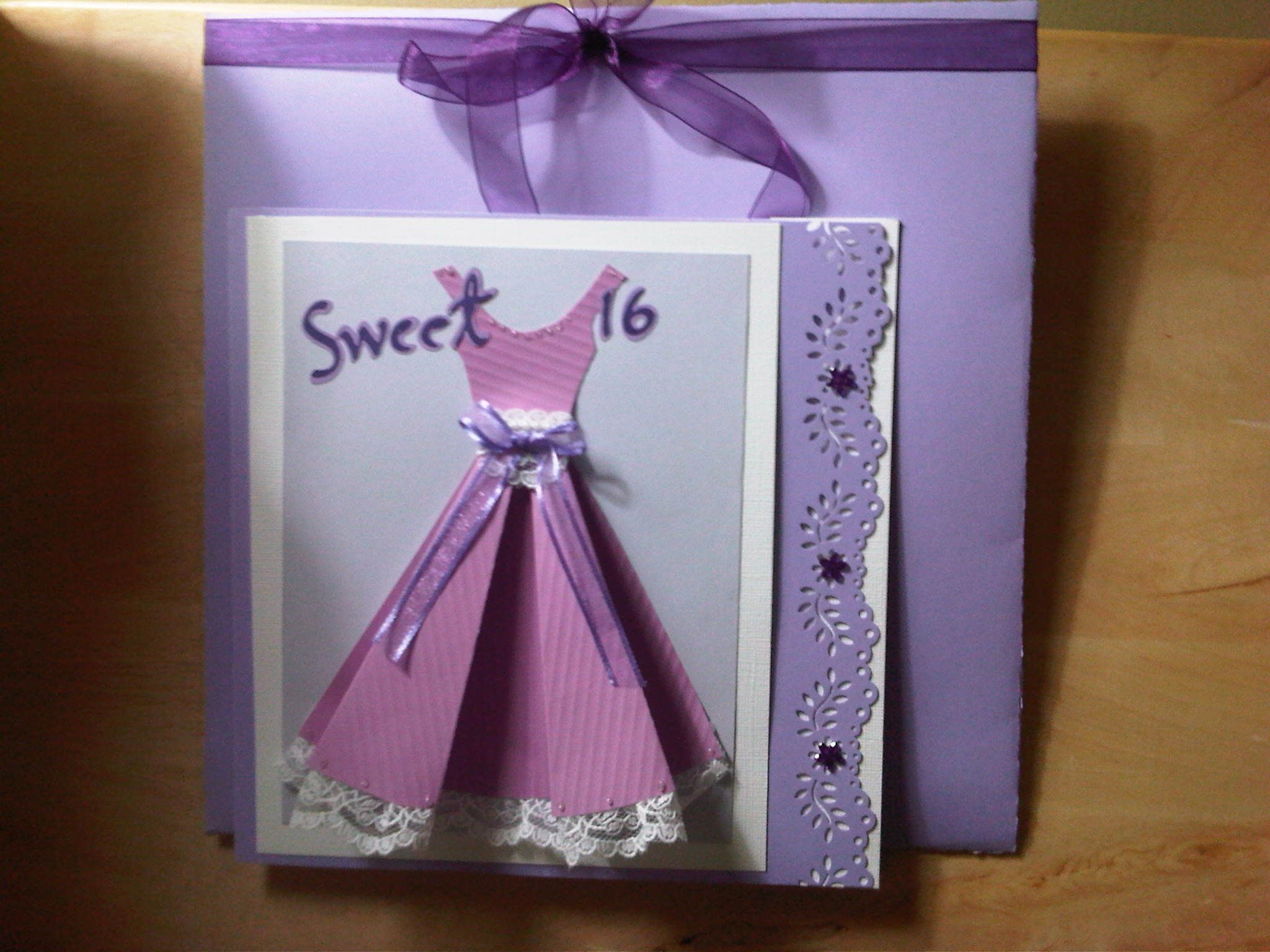 sweet 16 birthday card and envelope cards mine