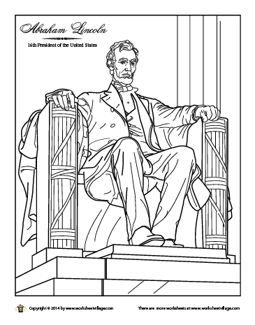 Abraham Lincoln Monument Coloring Page