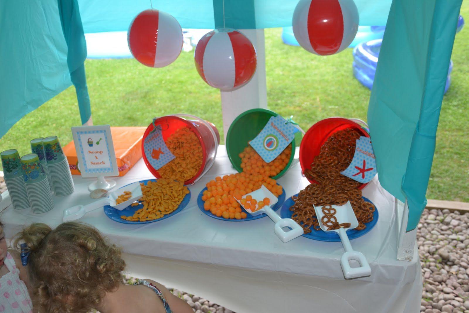 The Beach Birthday Party Ideas Beach party snacks Snacks and Beach