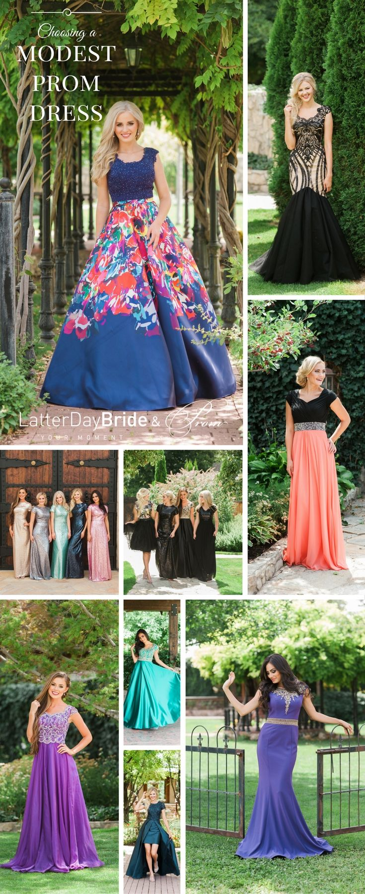 Choosing a Modest Prom Dress | LatterDayBride & Prom | Mormon Prom | LDS | Modesty | Formal gowns with sleeves | Worldwide Shipping | Sparkly Prom Dress | Elegant | Salt Lake City | Utah #modestprom