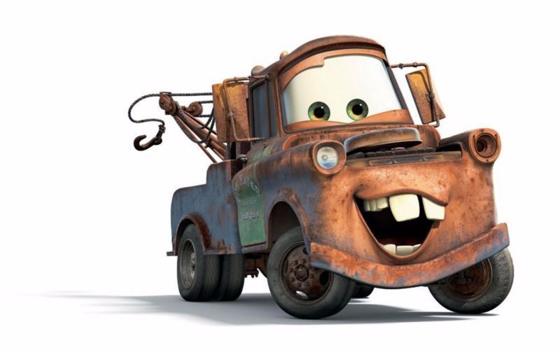 Cars Tow Mater Truck Edible Birthday Cake Topper 1 4 Or 1 2 Sheet