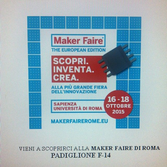 Something we liked from Instagram! Pronti per un'altra #MFR15 -1 @makerfairerome #universitàlasapienza #innovation #makers #3dprinter #3dprinting by i3dprinter check us out: http://bit.ly/1KyLetq