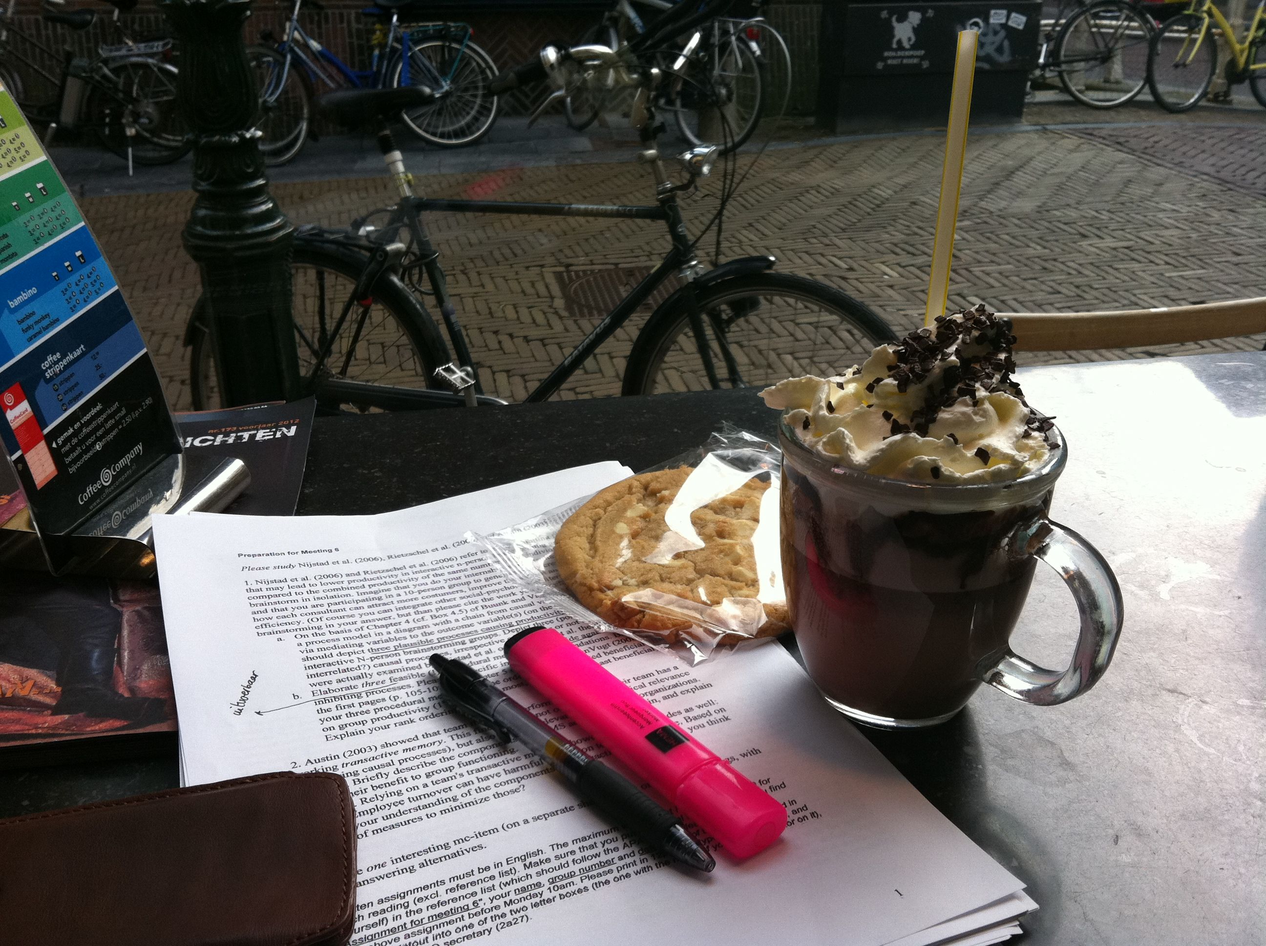 studying @ coffee company