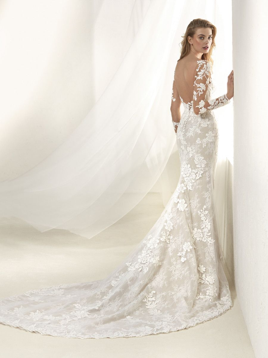 pronovias 2018 drafne bridal gown mermaid fishtail volume2 pinterest brautsammlung. Black Bedroom Furniture Sets. Home Design Ideas