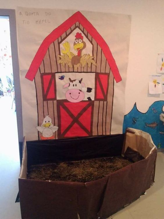 Decorar la escuela como si fuera una granja idea para - Como decorar una pared ...