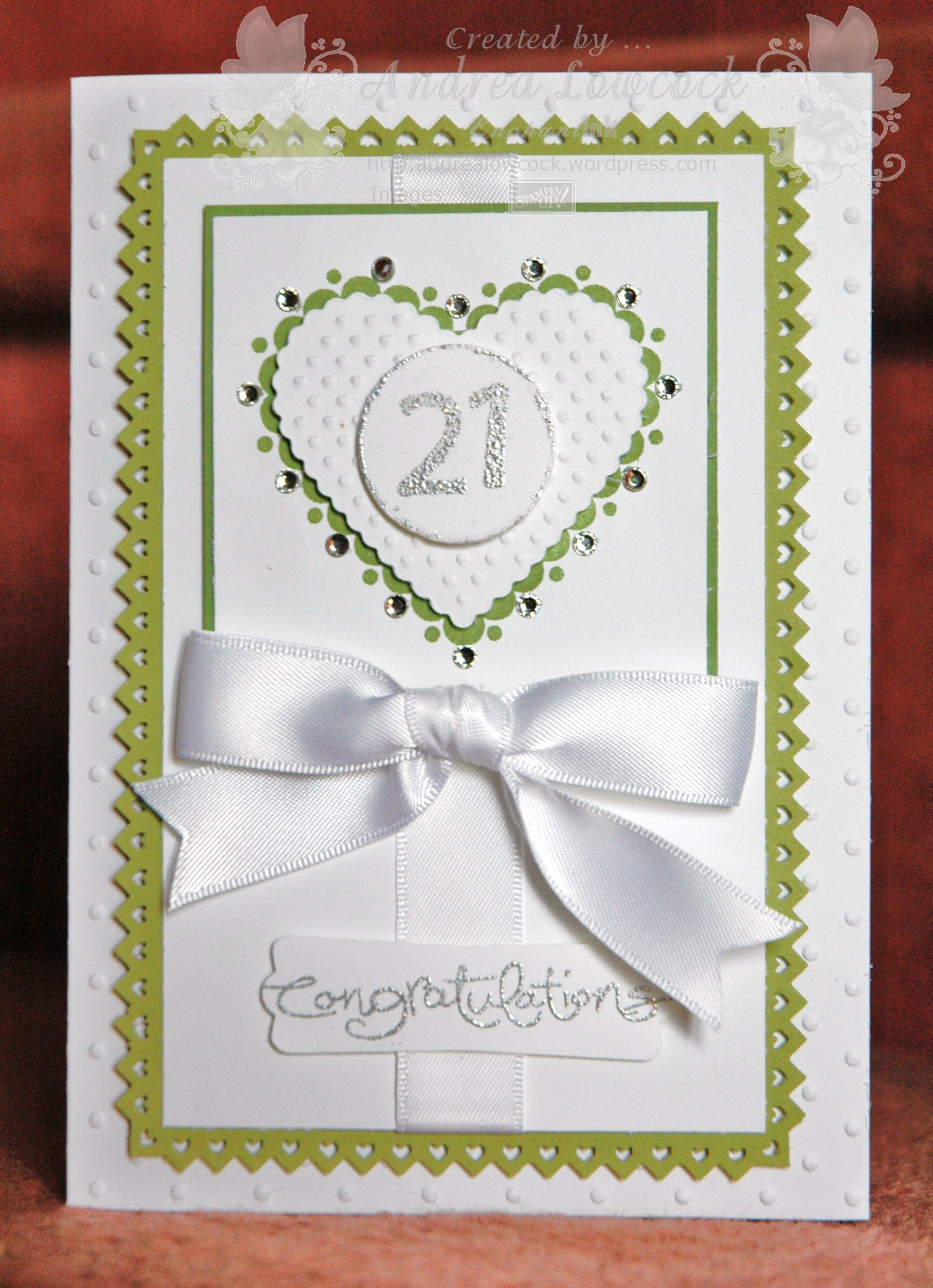 Card Making Ideas 21st Birthday Part - 34: Handmade 21st Birthday Card ... Blog - EnchantINK ... Stampinu0027 Up
