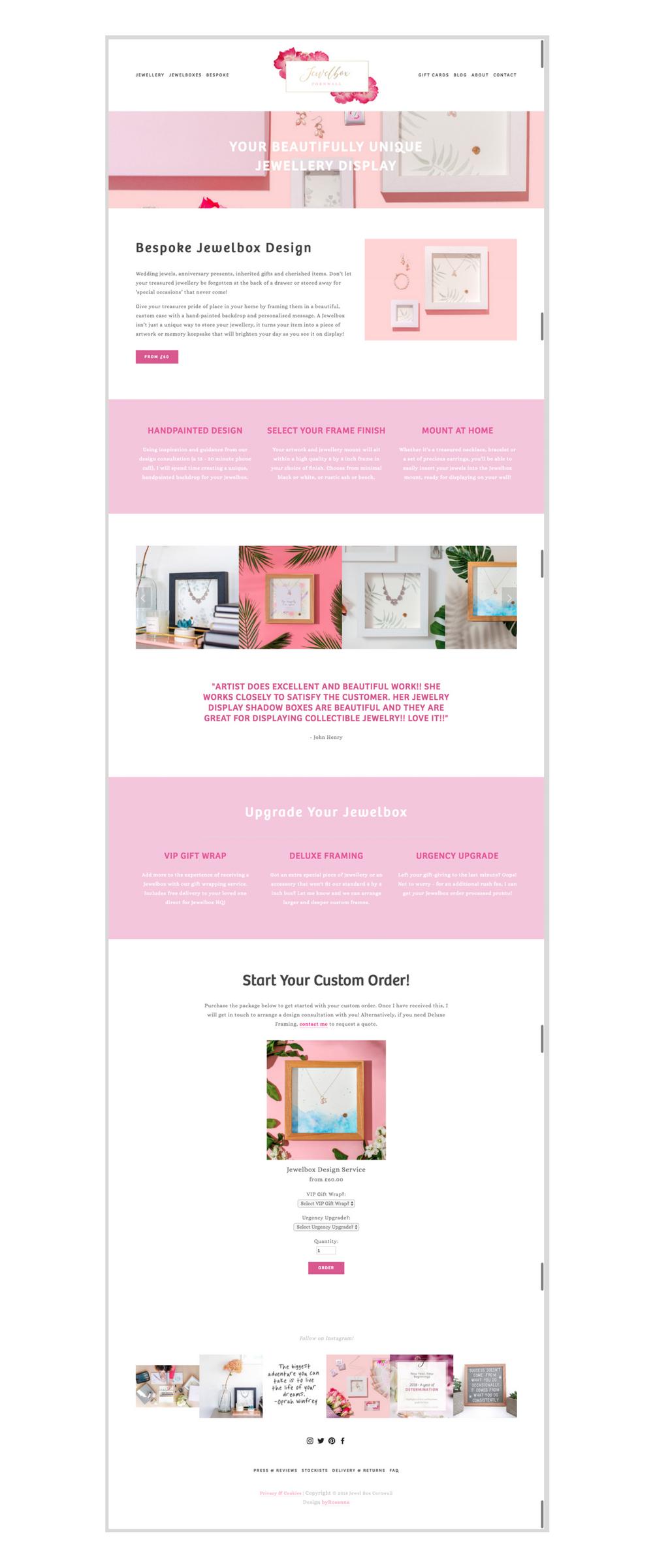 Jewelbox Cornwall S Brand New Look And Design Service Byrosanna Squarespace Website Design Branding Uk Squarespace Website Design Website Design Service Design