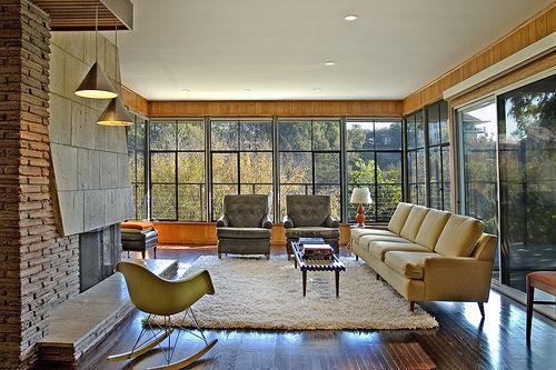 Midcentury mod interior Tea Lemon Pinterest Mid century living