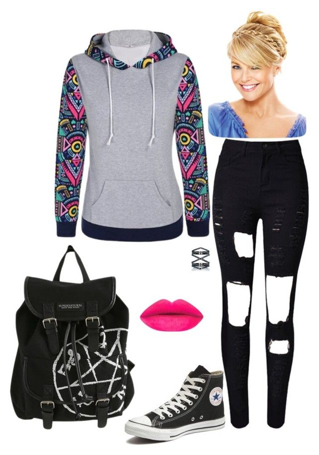 """Regular Day #1"" by bookworm2-i ❤ liked on Polyvore featuring Converse and Eva Fehren"