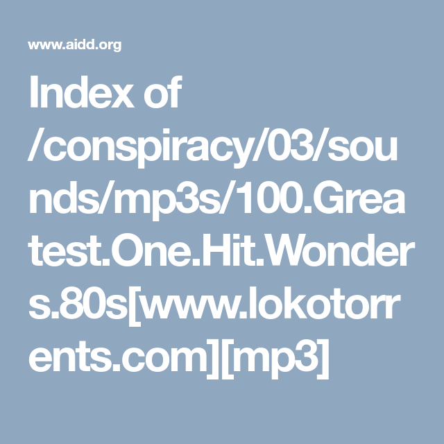 Index of /conspiracy/03/sounds/mp3s/100 Greatest One Hit