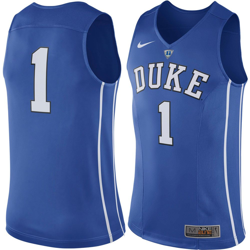 29f7d587a #1 Duke Blue Devils Nike Hyper Elite Authentic Performance Basketball Jersey  - Royal