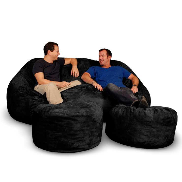 King Sleeper Sofa Black Microsuede Sidney King Sofa