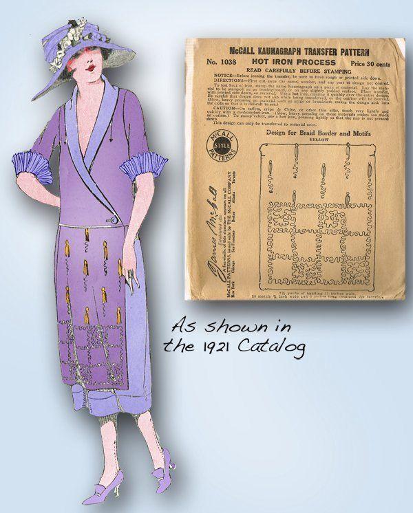 1920s Original High Fashion Clothing Trim Transfer for Soutache Braiding | eBay