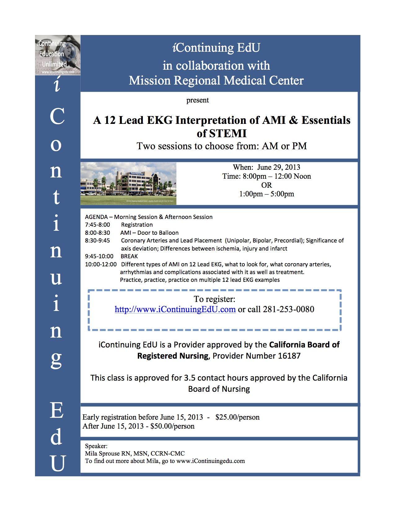 A 12 Lead Ekg At Mission Regional Medical Center Mission