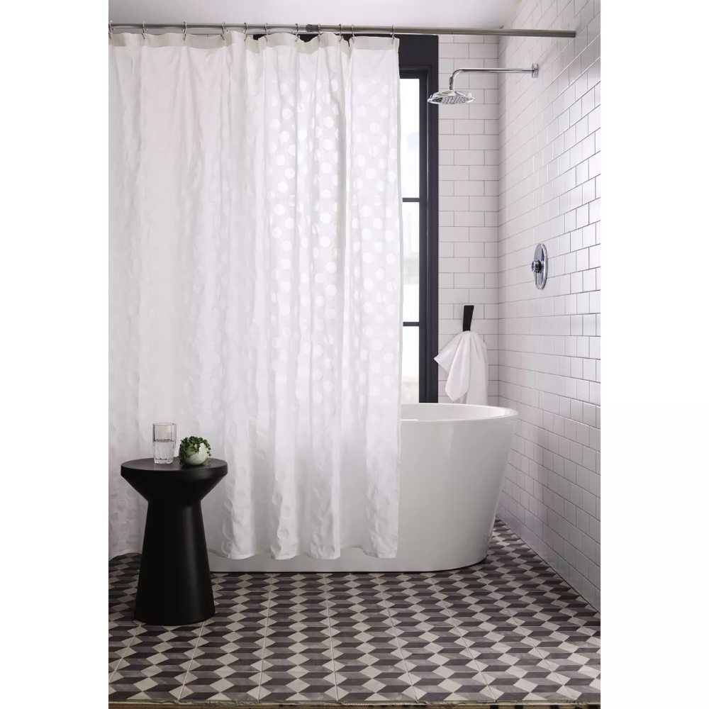 dots pattern opaque shower curtain