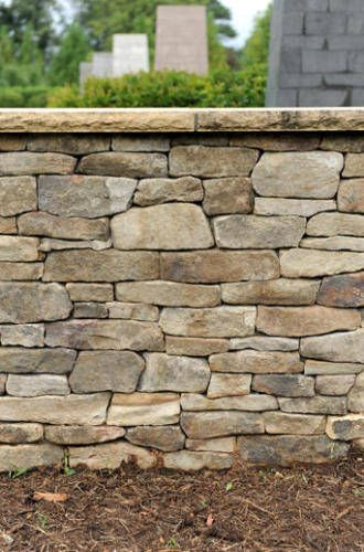 A Few More Rocks Beechscapes Stone Retaining Wall Cool Landscapes River Stones