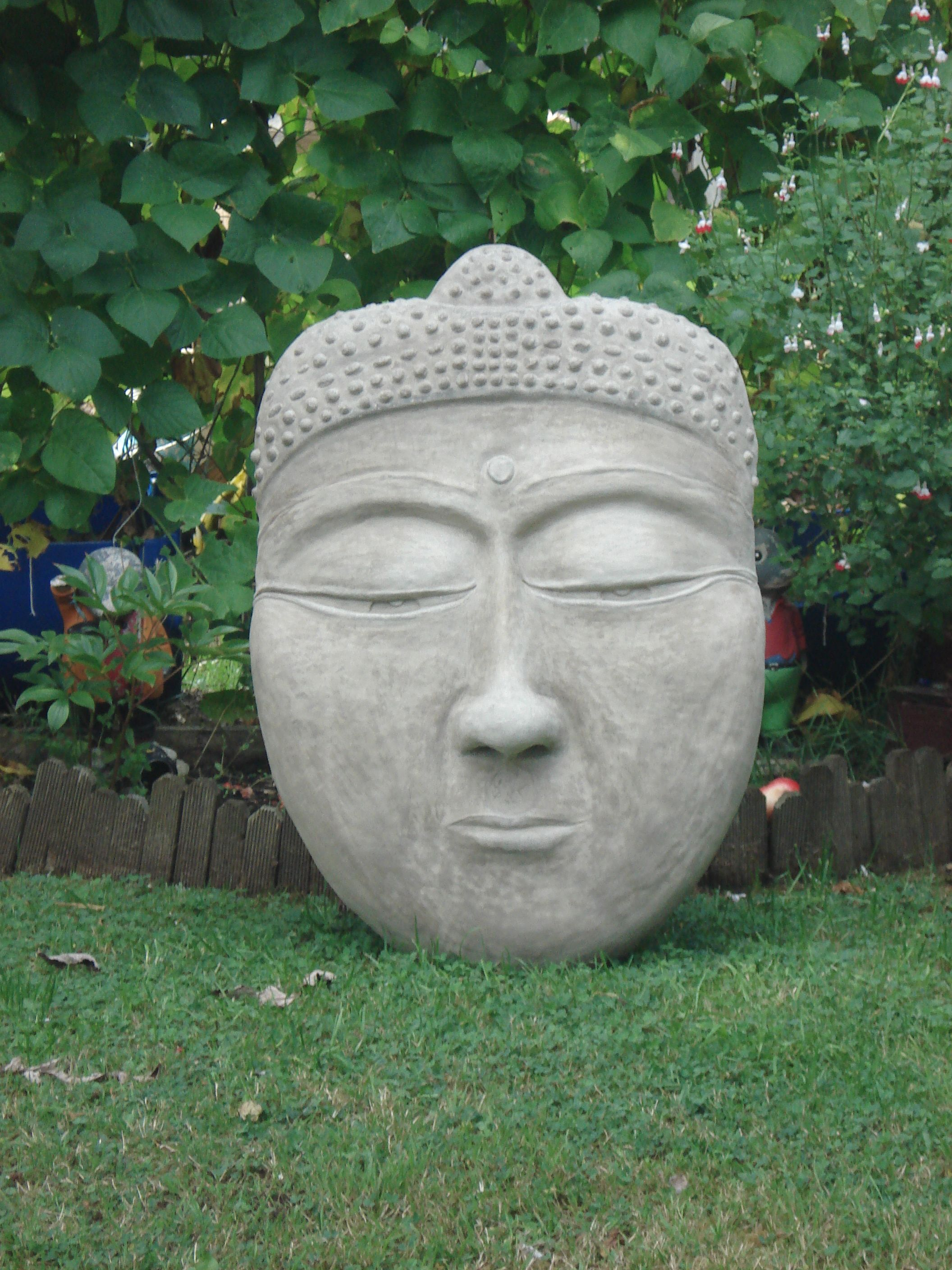 large stone buddha face sculpture for sale