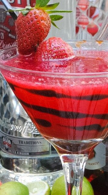 Strawberry and Chocolate Martini