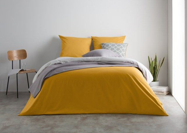 Superieur Solar Bed Linen Set, Fog Gray And Mustard Yellow | MADE.COM