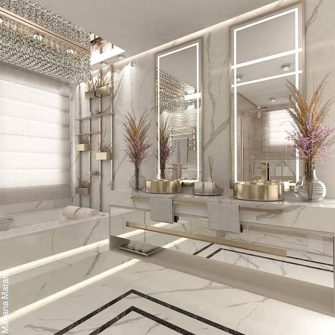 "ideas I decor l inspiration on Instagram: ""What a beautiful bathroom 💖 follow me 👉@homedecorbyjassy 🥰🤍🤍 . . . . Credit @oka.arquitetura 💖🤍 . . . . #homedeco #homeinterior…"""